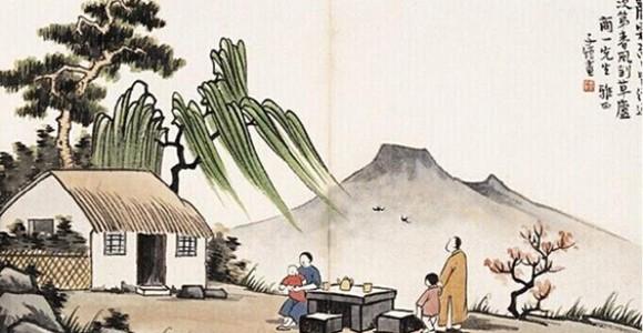 丰子恺画中的茶趣